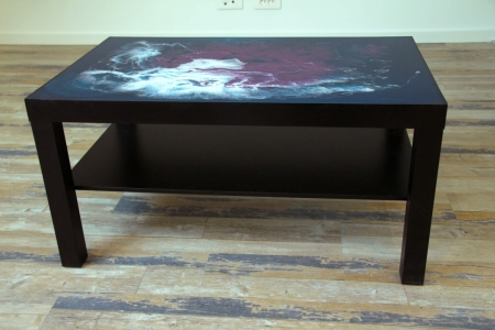 table basse medusa resine epoxy flamming atelier new design