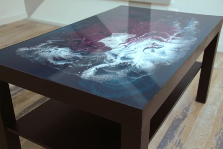 Table medusa résine epoxy flamming atelier new design